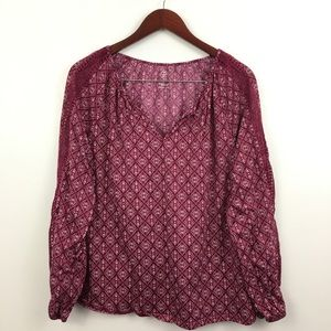 2/$20 St. Johns Bay Peasant Blouse